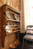 tableware кухни шкафа стоковое изображение rf