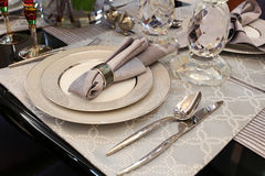 Tableware �Table napkin Stock Photos