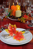 Tableware in autumn colors Royalty Free Stock Photography