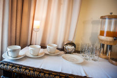 Tableware for breakfast Royalty Free Stock Images