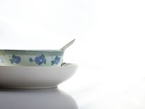 Tableware of chinese style. On a white backgroup Royalty Free Stock Images