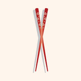 Tableware chopsticks theme elements vector,eps Stock Photo