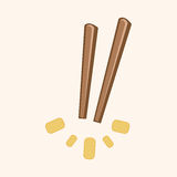 Tableware chopsticks theme elements vector,eps Royalty Free Stock Image