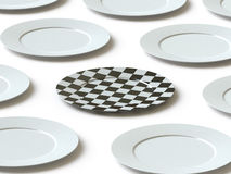 Tableware collection - push here Royalty Free Stock Image
