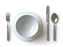 Tableware collection - push here Stock Images