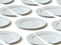 Tableware collection - push here Stock Photography