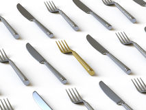 Tableware collection - push here Royalty Free Stock Photo