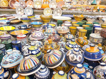 Tableware colored of Morocco. Royalty Free Stock Images