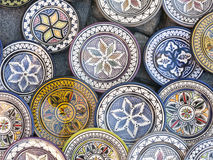 Tableware colored of Morocco. Royalty Free Stock Photo