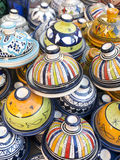 Tableware colored of Morocco. Royalty Free Stock Image