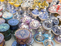 Tableware colored of Morocco. Stock Image