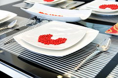 Tableware and dining table Stock Photos