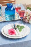 Tableware for dinner Royalty Free Stock Photos