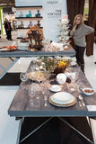 Tableware on display at HOMI, home international show in Milan, Italy Stock Images