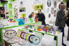 Tableware on display at HOMI, home international show in Milan, Italy Stock Photos