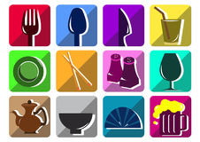 Tableware flat icon Royalty Free Stock Image