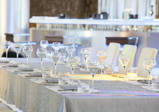 Tableware and glasses Stock Image
