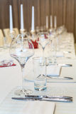 Tableware and glasses Royalty Free Stock Photo
