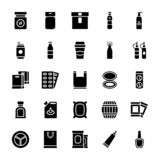 Tableware glifu ikony Ustawiać ilustracja wektor