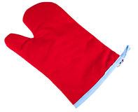 Tableware glove. Red tableware glove isolated on white background Stock Photo
