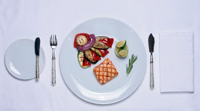 Tableware. Gourmet Food Royalty Free Stock Image