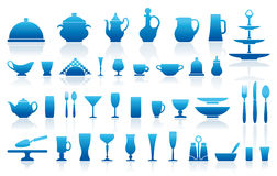 Tableware icons Stock Photos