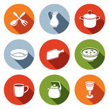 Tableware Icons set Stock Photos