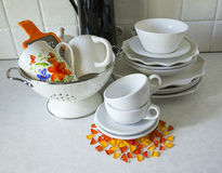 Tableware. interior Stock Photo