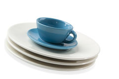 Tableware isolated on a white background Royalty Free Stock Photos