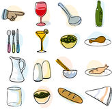 Tableware. Items often seen on a table Royalty Free Stock Photo