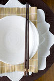 Tableware in japanese style Royalty Free Stock Photos