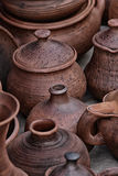 Tableware made of clay Royalty Free Stock Photo