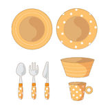 Tableware Objects Cartoon Illustration Royalty Free Stock Images