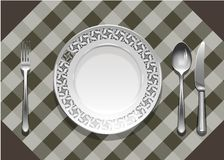 Tableware pattern Royalty Free Stock Photo