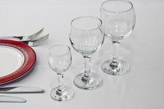 Tableware in restaurant Stock Image