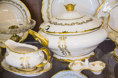 Tableware for royal persons Stock Image