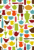 Tableware seamless Royalty Free Stock Photography