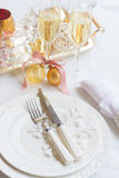Tableware set for christmas Stock Images