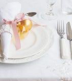 Tableware set for christmas Stock Image