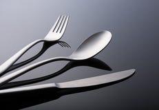 Tableware set nowożytny obraz stock