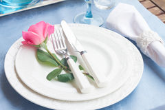 Tableware set Stock Photo