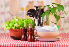 Tableware set Royalty Free Stock Images