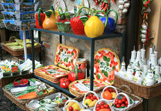 Tableware shop in Sirmione, Italy Royalty Free Stock Image