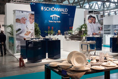 Tableware stand at Host 2013 in Milan, Italy Stock Photo