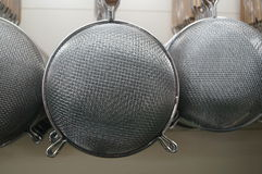 Tableware strainer. Tableware colander, iron. Is one of the commonly used tableware Chinese restaurant Stock Photos