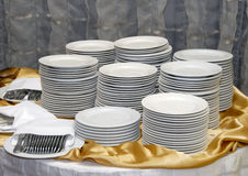 Tableware on the Swedish table royalty free stock photography