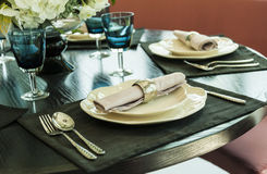 Tableware on the table Stock Photography