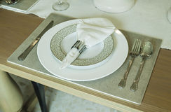 Tableware on the table Royalty Free Stock Photo