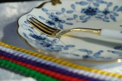 Tableware on the table Stock Image