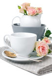 Tableware for tea Stock Photo